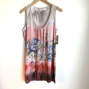 LA Blend top multicolored print